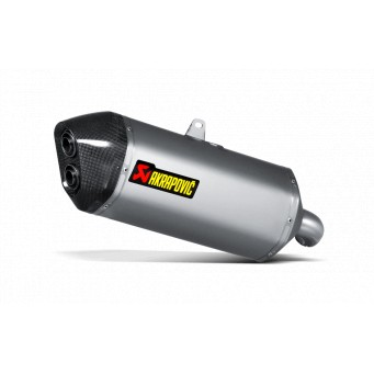 AKRAPOVIC Slip-on titanio-carbono