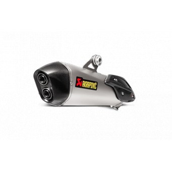 AKRAPOVIC Slip-on , titanio-carbono